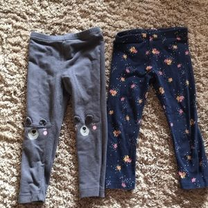 Lot of 2 Old Navy Leggings Size 3t